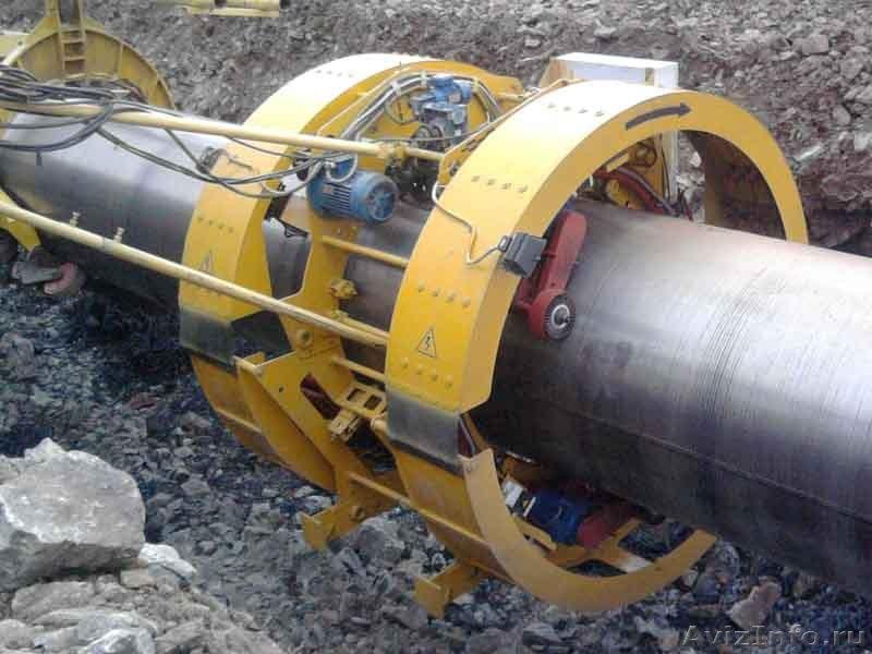 Машина для изоляции отдельных участков трубопроводов типа «рим».