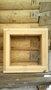 Окна банные деревянные